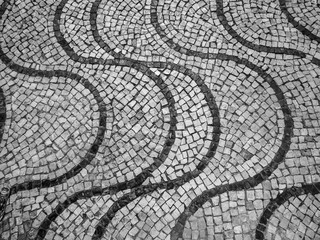 Portuguese pavement patterns at the beach town of Cascais, Portugal
