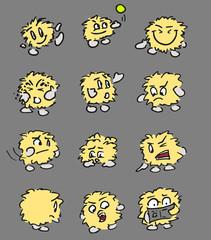 Wollen emoticons