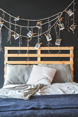 Bed headboard and decoration