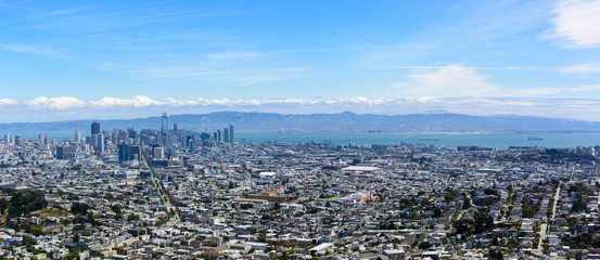 City of San Francisco on a summer afternoon as seen from Twin Peaks