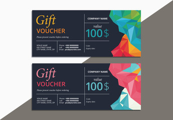 2 Gift Voucher Layouts with Geometric Elements 1