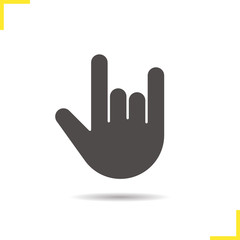 Heavy metal gesture glyph icon