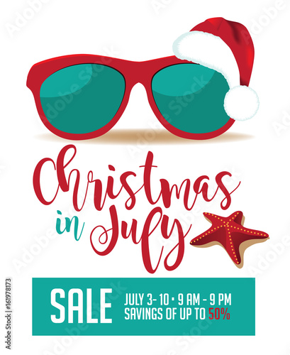 Christmas In July Royalty Free Images.Christmas In July Illustration Eps 10 Vector Stock Image