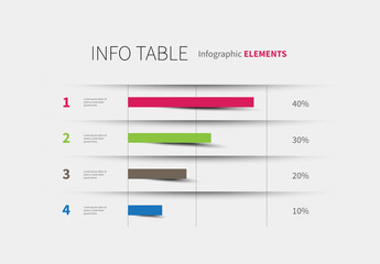 Infographic Table with Chart Layout
