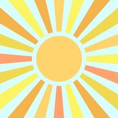 Summer sun rays vector icon