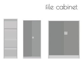 file cabinet silhouette on white background