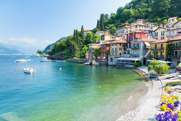 view on Varenna town at Lake Como, Italy