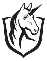 Unicorn and shield