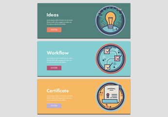 3 Workflow and Creativity Web Banners