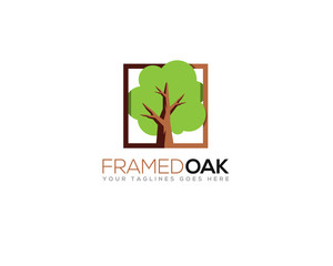 framed oak tree