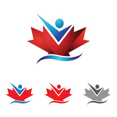 Canada Maple Leaf Success Business Solution Logo
