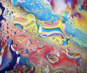 фон яркий вода на стекле абстракция
