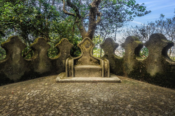 Stone throne at Sintra