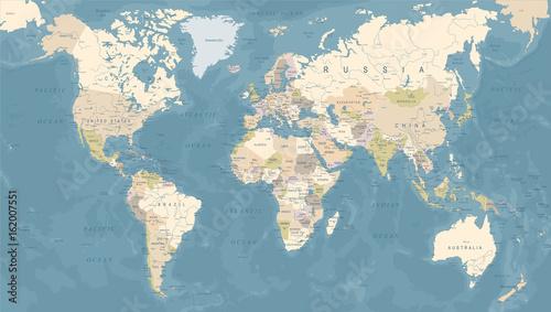 Vintage world map vector illustration stock image and royalty vintage world map vector illustration gumiabroncs Images