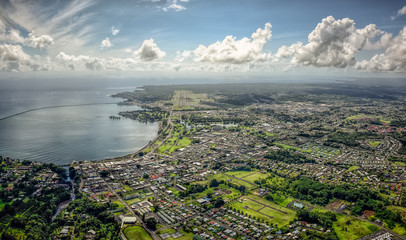 Hilo from above Wall mural