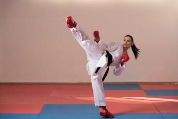 White Karate Fighter