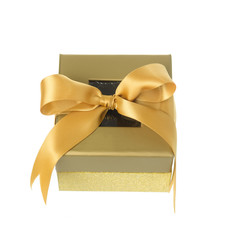 Window lid gift boxes on white background