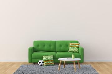 Living Room 3D Rendering Image