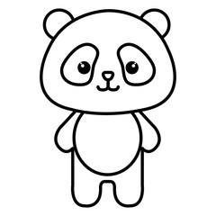 Stuffed animal panda icon vector illustration design image