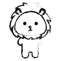 Stuffed animal lion icon vector illustration design draw