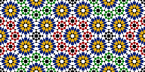 moroccan zellige seamless