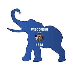Wisconsin Republican Elephant Flag