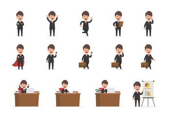 Set of Cute Businessman