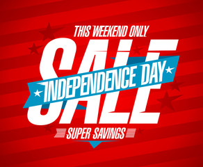 Independence day sale vector design concept
