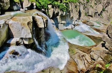 Wasser, Gebirgsfluss, Schöllenenschlucht