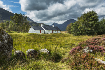 Blackrock Cottage and Buachaille Etive Mor, Glencoe, Scotland.