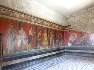 Roman fresco Villa dei Misteri Pompeii