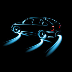 Car Icon Abstract backgrounds vector