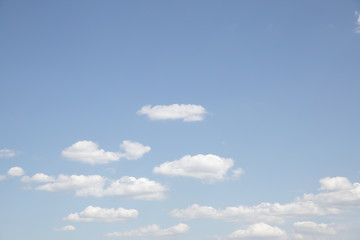 Pale blue sky