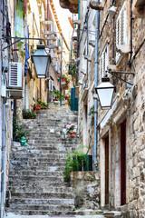 Wall Mural - Street in Old town of Dubrovnik