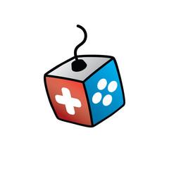 Joystick Logo - Video Game Console Logotype