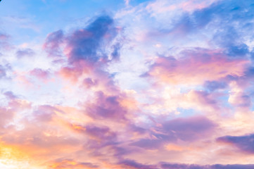 Pinky sky - Vanilla sky - candy sky
