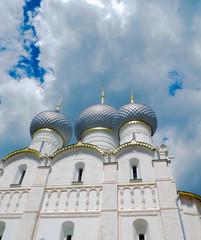 Gate Church of St. John Evangelist in Rostov Veliky was built in 1683. Monument of history and architecture looks more elegant than other Kremlin church. Russia, Rostov Veliky. June 20, 2017