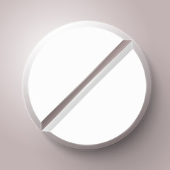 Pill in Blister Pack Vector Illustration