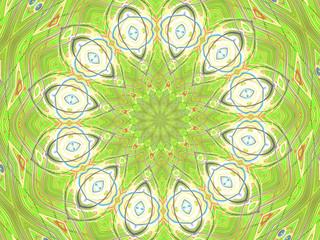 Shapes Circling Star Kaleidoscope Image