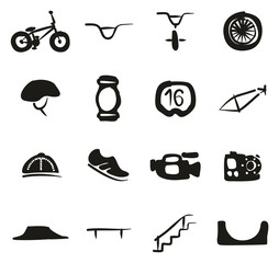 BMX Icons Freehand Fill