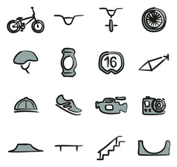 BMX Icons Freehand 2 Color