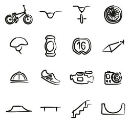 BMX Icons Freehand