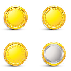 Coin on white background isolated object abstract