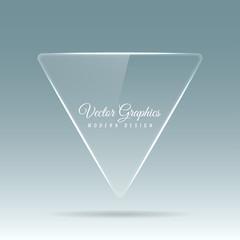Glass banner. Transparent geometric shapes.