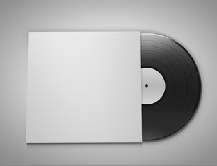 Vinyl Record in Sleeve - isolated - 3D Render