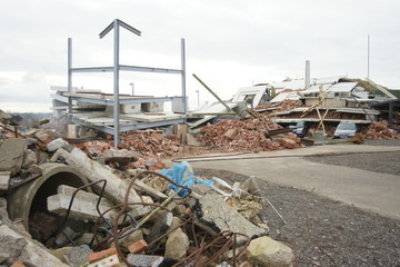 building collapse, tower block disaster zone