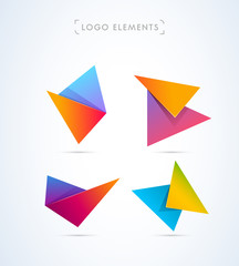 Vector abstract logo design elements. Material design style