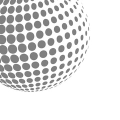 Abstract halftone effect 3d sphere