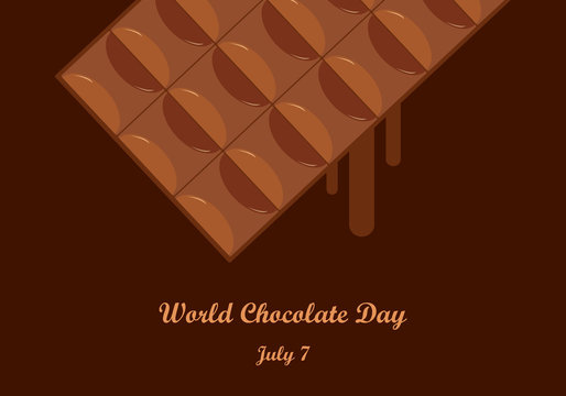 World Chocolate Day vector. Vector illustration of a chocolate table. Important day