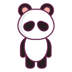 Stuffed animal panda icon vector illustration design graphic